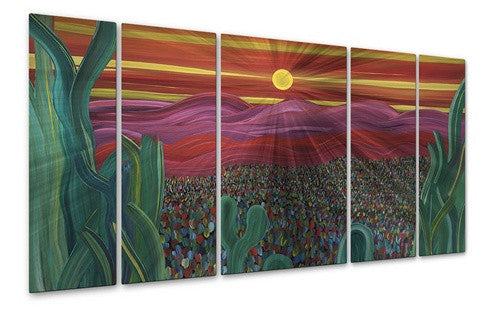 Beyond The Cactus - Metal Wall Art Decor - Jerry Clovis