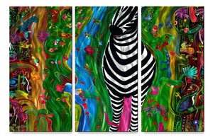 Zebra - Metal Wall Art Decor - Jerry Clovis