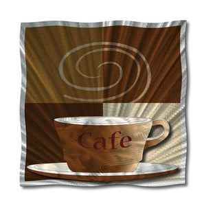 Cafe au Lait - Metal Wall Art Decor - Ash Carl Designs