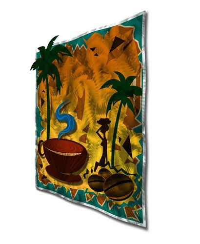 Coffee Cabana Contemporary Modern Wall Art Sculpture