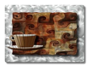 Metallic Mocha - Metal Wall Art Decor - Ash Carl Designs