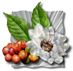 Coffee Blossom - Metal Wall Art Decor - Ash Carl Designs