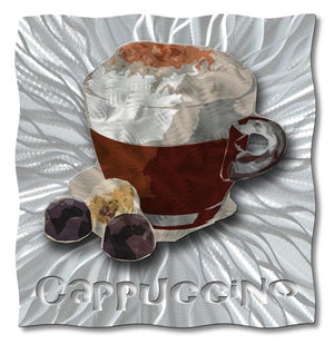 Captivating Cappuccino - Metal Wall Art Decor - Ash Carl Designs