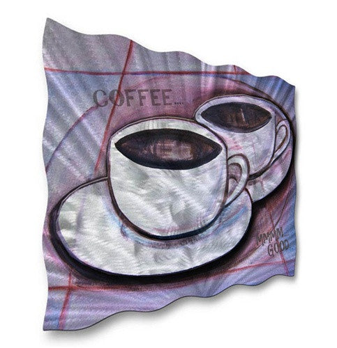 Coffee for 2 - Metal Wall Art Decor - Ash Carl Designs