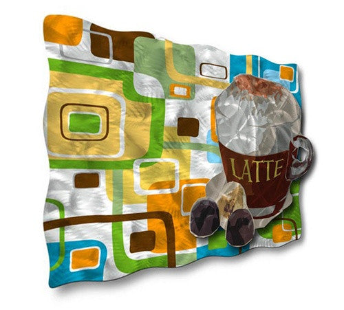 Loco Latte - Metal Wall Art Decor - Ash Carl Designs