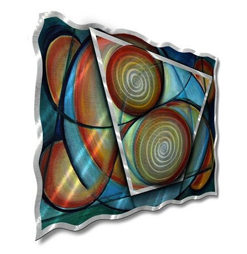 Complementary Hues - Metal Wall Art Decor - Ash Carl Designs