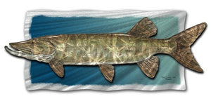 Muskie - Abstract Sculpture Steel Metal Welded Wall Art Decor - Jeff Currier