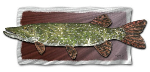 Northern Pike - Abstract Sculpture Steel Metal Welded Wall Art Decor - Jeff Currier