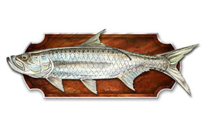 Mounted Tarpon - Metal Wall Art Decor - Jeff Currier
