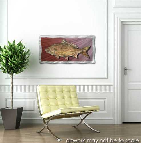 Common Carp - Layer Panel Art Room Furnishing - Jeff Currier
