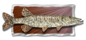 Tiger Muskie - Abstract Steel Metal Welded Wall Art Decor - Jeff Currier