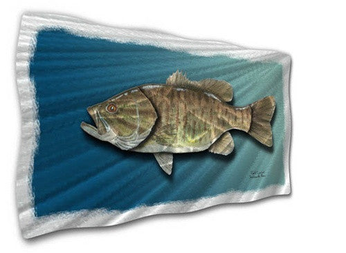 Small Mouth Bass - Metal Wall Art Decor - Jeff Currier