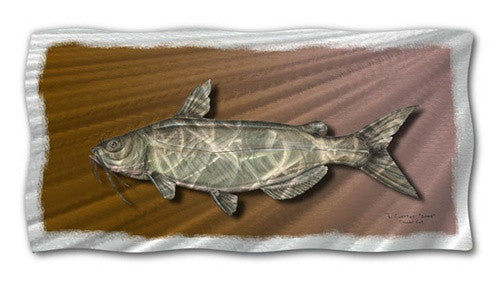 Catfish - Metal Wall Art Decor - Jeff Currier
