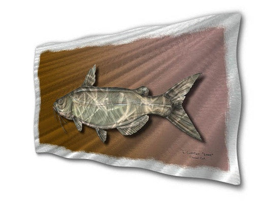 Catfish - Metal Wall Art Sculpture - Jeff Currier