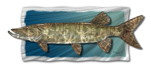 Muskie - Abstract Sculpture Steel Metal To Hang on Wall Wall - Jeff Currier