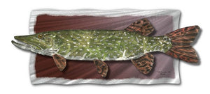 Northern Pike - Abstract Steel Metal Welded Wall Art Decor - Jeff Currier