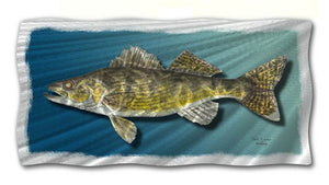Welded Walleye - Abstract Steel Metal Welded Wall Art Decor - Jeff Currier