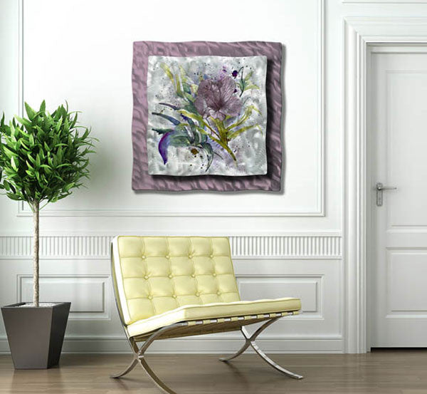 Hibiscus Haven Contemporary Modern Wall Art