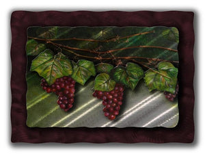 Goodness Grape-ious - Metal Wall Art Decor - Ash Carl Designs