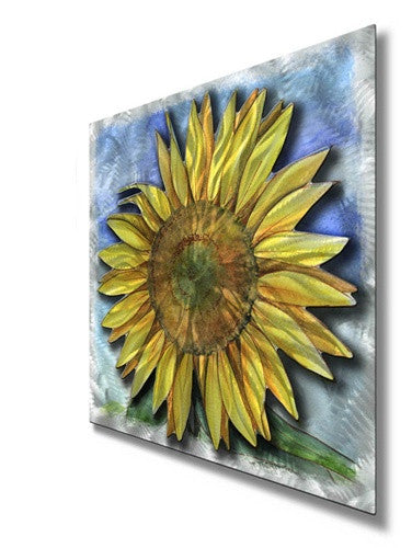Big Sunflower - Metal Wall Art Decor - Ash Carl Designs