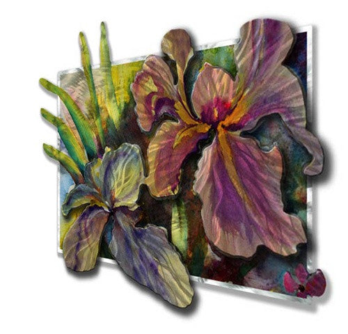 Iris - Painted Steel Metal Welded Wall Art Decor - Ash Carl Designs