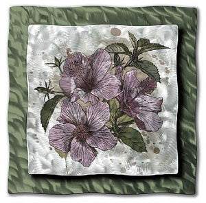 Pink Hibiscus Floral Wall Art Ash Carl