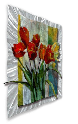 Bouquet For Mother Metal Wall Art