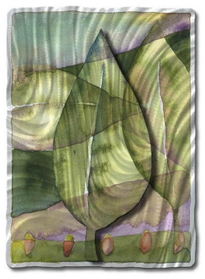 Abstract Leaves - Metal Wall Art Decor - Ash Carl Designs