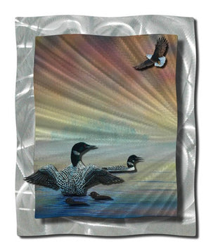 Birds of air and water - Metal Wall Art Decor - Steve Heriot