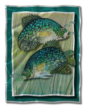 Crappie Action - Metal Wall Art Decor - Steve Heriot