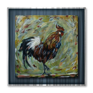 Rooster - Painted Steel Metal Welded Wall Art Decor - Danlye Jones