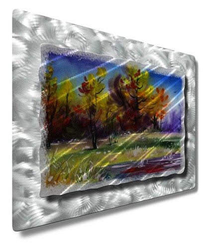 Peaceful Trees - Painted Steel Metal Welded Wall Art Decor - Ash Carl Designs