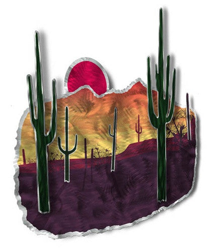 Desert Sunset - Metal Wall Art Decor - Ash Carl Designs
