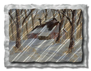 Cabin in the Woods - Metal Wall Art Decor - Ash Carl Designs