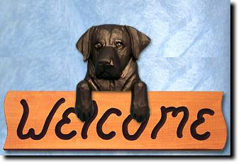 Labrador Retriever Dog Wood Welcome Sign