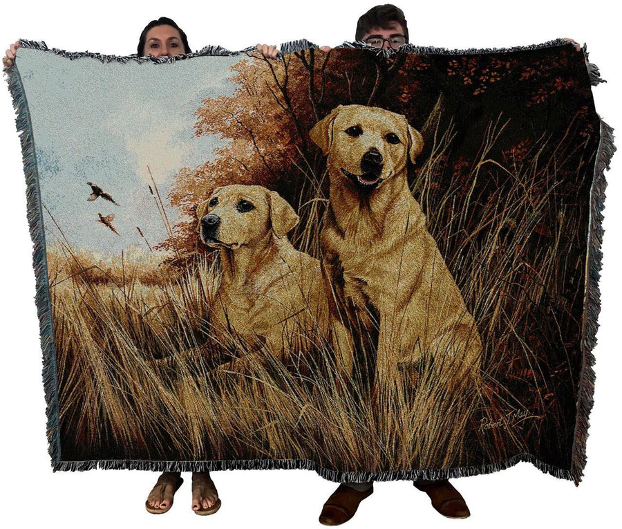 Labrador Retriever Yellow Blanket Throw