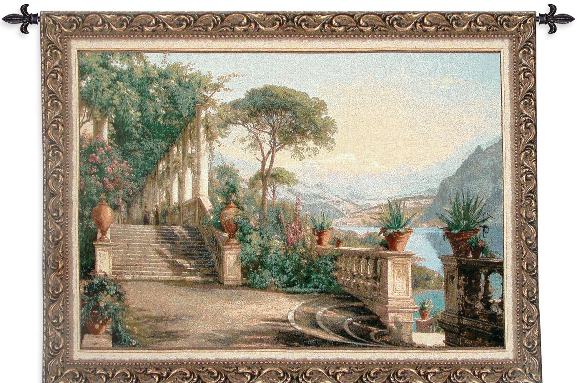 Lodge at Lake Como Woven Tapestry Decor