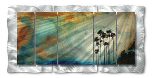 Tall Trees in the Sun - Abstract Steel Metal Welded Wall Art Decor - Megan Duncanson