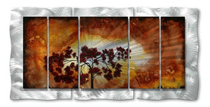 Sun Tree - Abstract Steel Metal Welded Wall Art Home Decor - Megan Duncanson