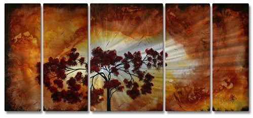 Sun Tree - Abstract Steel Metal Welded Wall Art Decor - Megan Duncanson