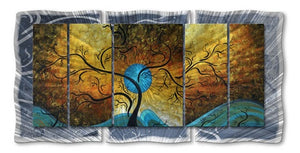 Blue Moon - Painted Steel Metal Welded Wall Art Decor - Megan Duncanson