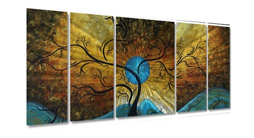 Blue Moon - Abstract Blue Steel Metal Welded Wall Art Decor by Artist Megan Duncanson