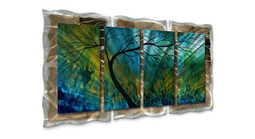 Spring Movement - Abstract Seasonal Steel Metal Welded Wall Art Decor - Megan Duncanson