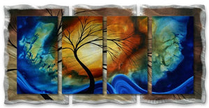 Complimentary Growth - Abstract Sculpture Steel Metal Welded Wall Art Decor - Megan Duncanson