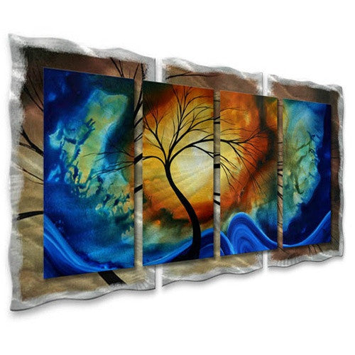 Complimentary Growth - Abstract Steel Metal Welded Wall Art Decor - Megan Duncanson