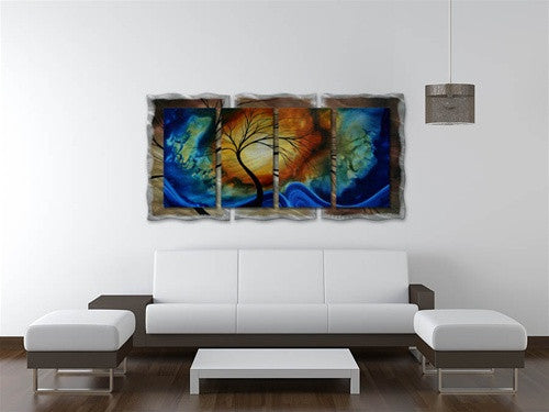 Complimentary Growth - Abstract Steel Metal Welded Panel Art Room Furnishing - Megan Duncanson