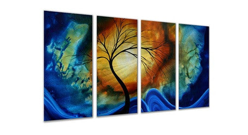 Complimentary Growth - Abstract Sturdy Sculpture Steel Metal Welded Wall Art Decor - Megan Duncanson