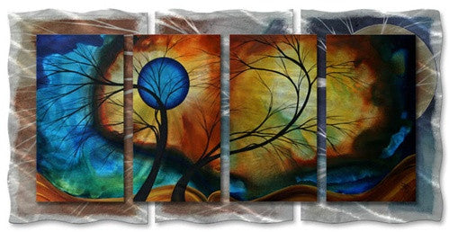Moon Whisper - Abstract Steel Metal Welded Sky Wall Art Decor - Megan Duncanson