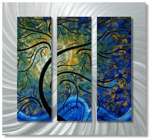 Indigo Evolution Contemporary Modern Wall Art