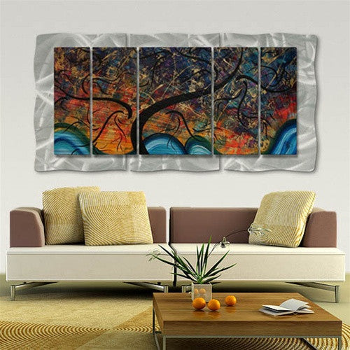 Brilliant Branches - Abstract Sculpture Steel Metal Welded Panel Art Room Furnishing - Megan Duncanson